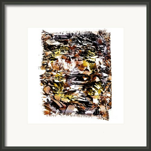 Pile Of Crushed  Paper For Recycling Framed Print By Bernard Jaubert