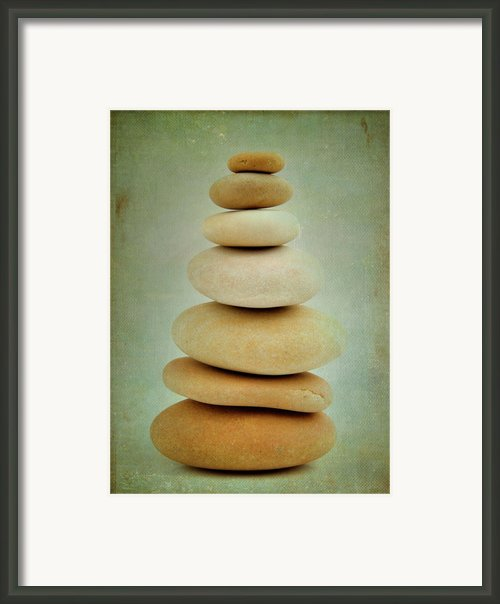 Pile Of Stones Framed Print By Bernard Jaubert
