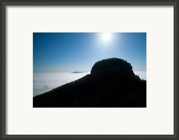 Pilot Mountain Framed Print By John Harmon