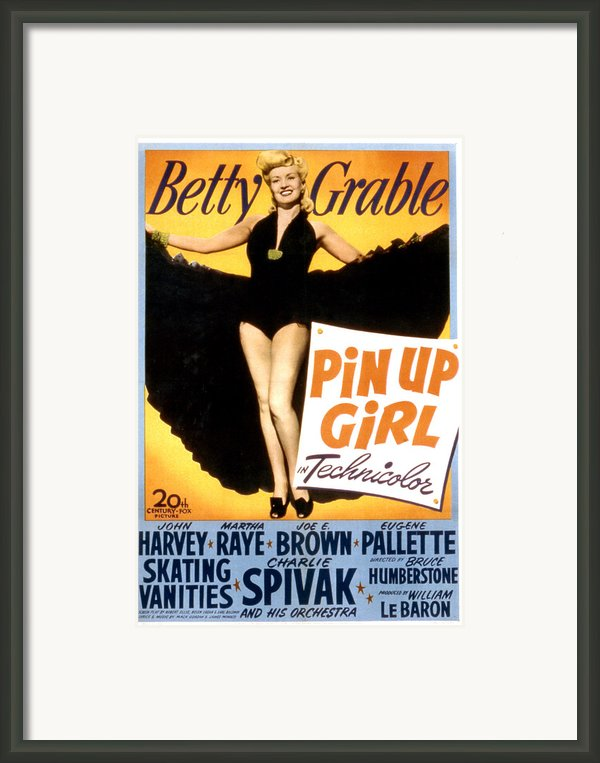 Pin Up Girl, Betty Grable, 1944 Framed Print By Everett