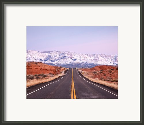 Pine Valley Mountains Framed Print By Adrian Studer