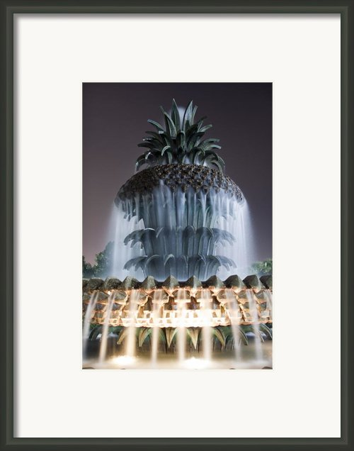 Pineapple Fountain Charleston Sc Framed Print By Dustin K Ryan