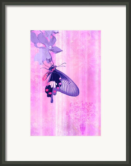 Pink And Purple Companions 1 Framed Print By Jq Licensing