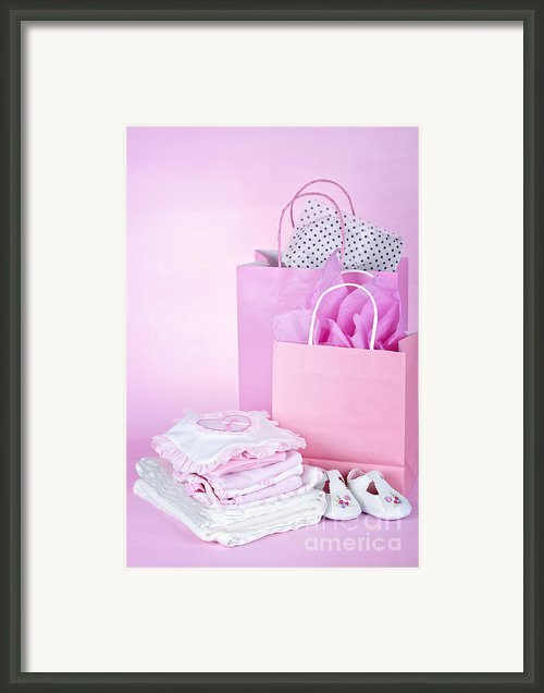 Pink Baby Shower Presents Framed Print By Elena Elisseeva