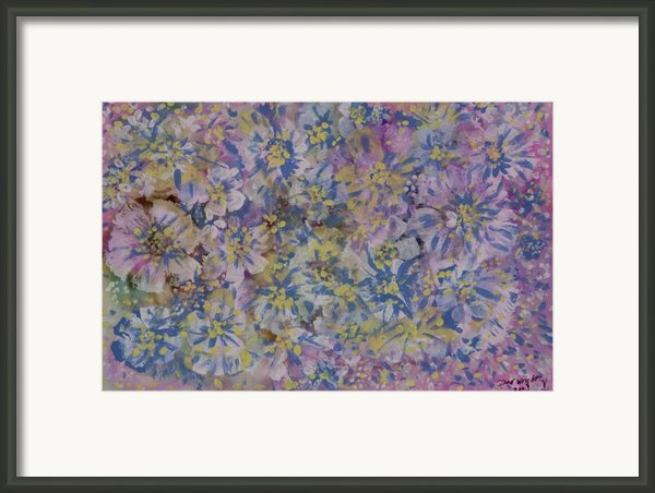Pink On Blue Framed Print By Don  Wright