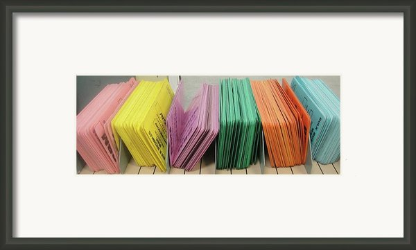 Pink.yellow.violet.green.orange.blue Framed Print By Waldemar Borrero