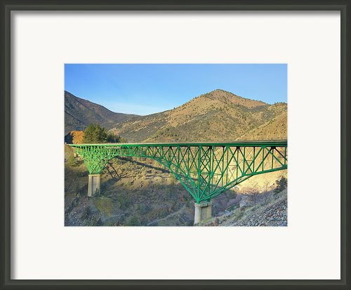 Pioneer Bridge Framed Print By Loree Johnson