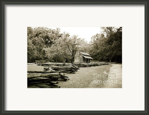 Pioneers Cabin Framed Print By Scott Pellegrin