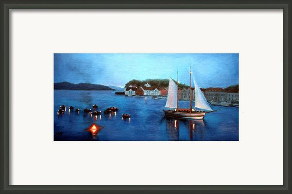 Pirate Battle Framed Print By Janet King