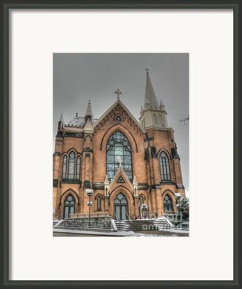 Pittsburgh Cathedral Framed Print By David Bearden