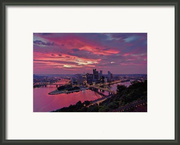 Pittsburgh Dawn Framed Print By Jennifer Grover
