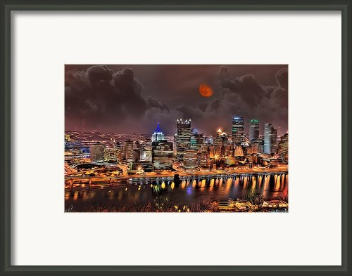 Pittsburgh Night Lights Framed Print By Jason Wilt