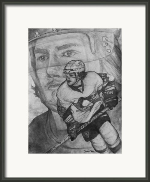 Pittsburgh Penguins Kris Letang Framed Print By Keith Clouse