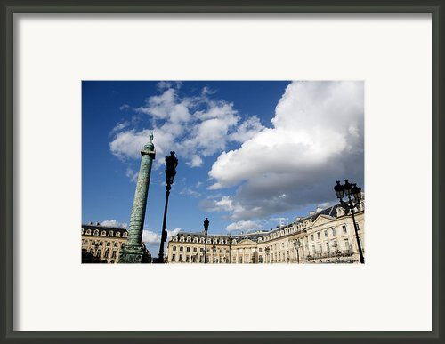 Place Vendome. Paris. France. Framed Print By Bernard Jaubert