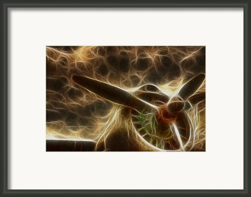 Plane Golden Fire Framed Print By Paul Ward
