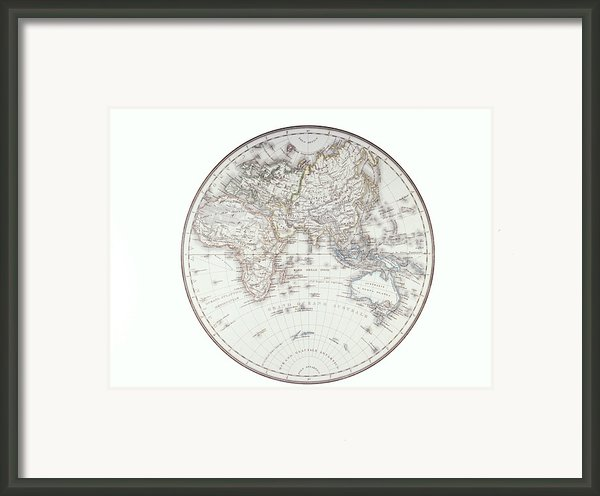 Planispheric Map Of The Eastern Hemisphere Framed Print By Fototeca Storica Nazionale