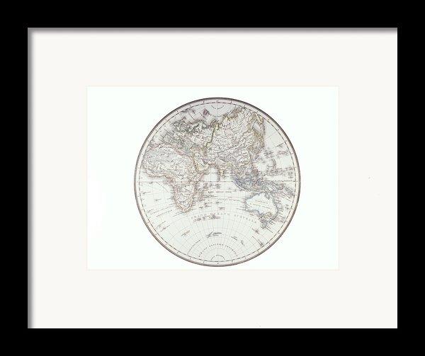 Planispheric Map Of The Eastern Hemisphere Framed Print By Fototeca Storica Nazionale