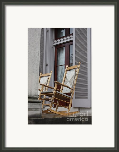 Plantation Rocking Chairs Framed Print By Carol Groenen