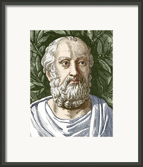 Plato, Ancient Greek Philosopher Framed Print By Sheila Terry