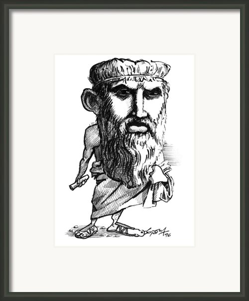 Plato, Caricature Framed Print By Gary Brown