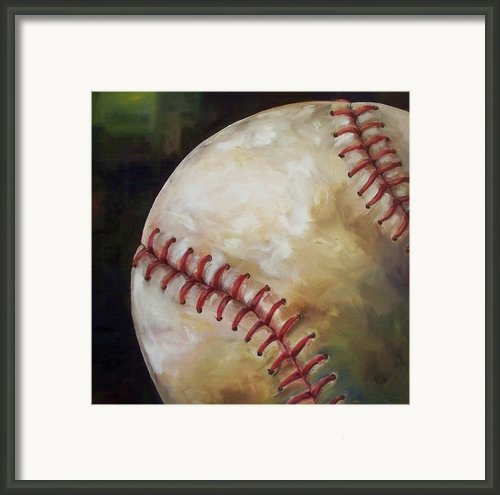 Play Ball Framed Print By Kristine Kainer