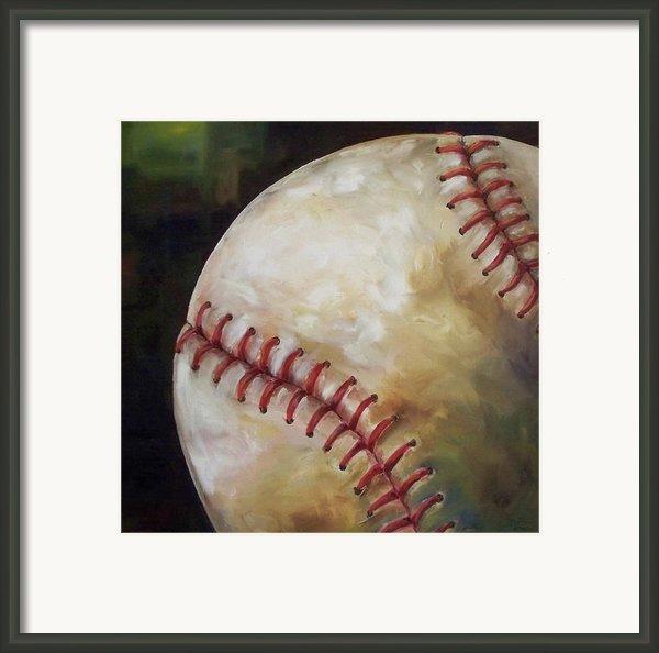 Play Ball Framed Print By Kristine Kainer