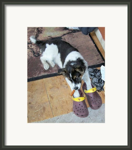 Playing Aunt Pam Cigar And Crocks Framed Print By Pamela Walrath