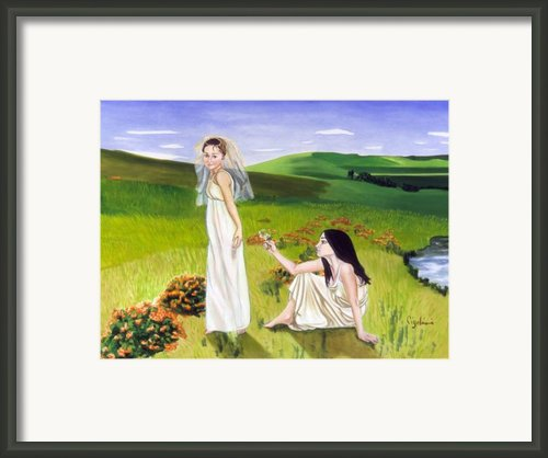Playing Framed Print By Gloria Cigolini-depietro