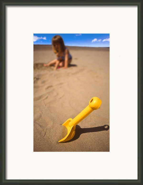Playtime At The Beach Framed Print By Meirion Matthias