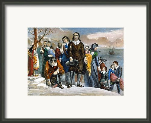 Plymouth Rock, 1620 Framed Print By Granger