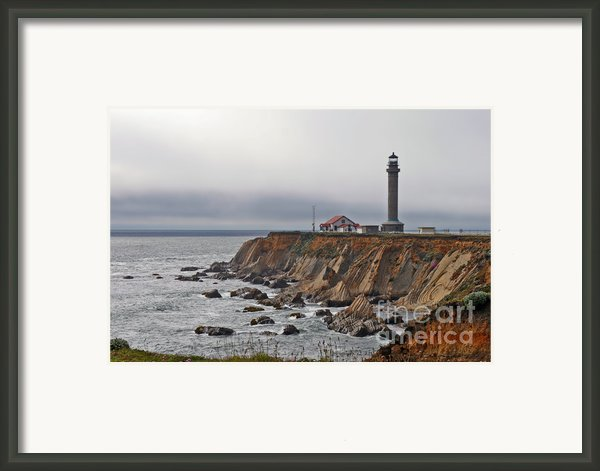 Point Arena Lighthouse Ca Framed Print By Christine Till