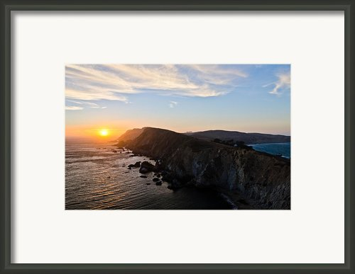 Point Reyes Sunset Framed Print By About Light  Images