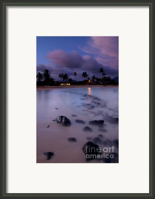 Poipu Evening Storm Framed Print By Mike  Dawson