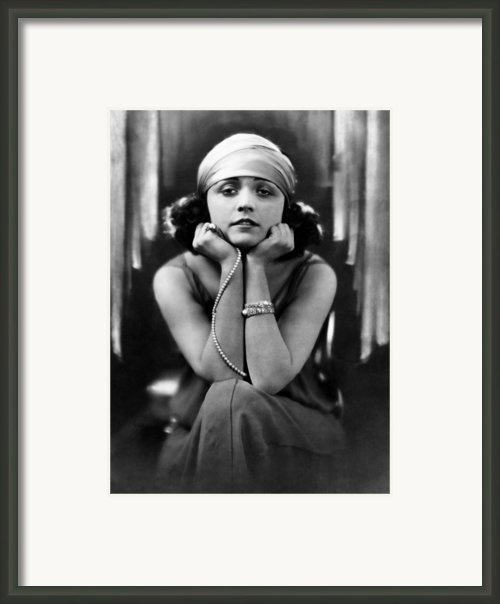 Pola Negri, Ca. Early 1920s Framed Print By Everett
