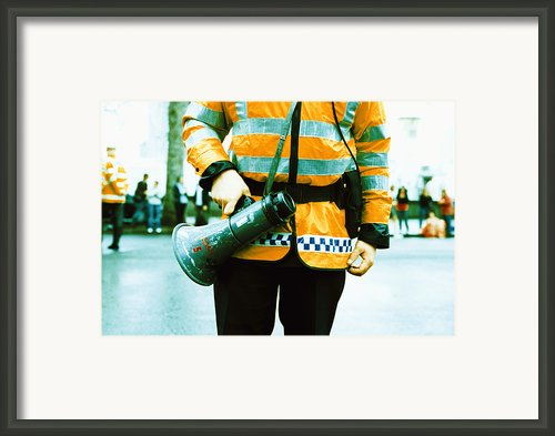 Police Officer Framed Print By Kevin Curtis