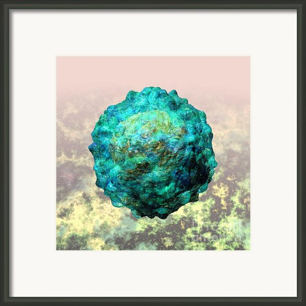 Polio Virus Particle Or Virion Poliovirus 1 Framed Print By Russell Kightley