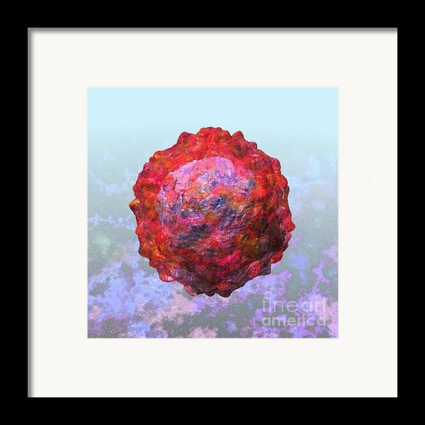 Polio Virus Particle Or Virion Poliovirus 2 Framed Print By Russell Kightley