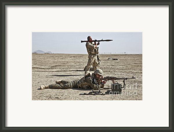 Polish Soldiers Prepare To Fire Framed Print By Stocktrek Images