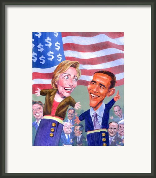 Political Puppets Framed Print By Ken Meyer Jr