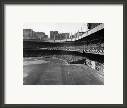 Polo Grounds, During The First Game Framed Print By Everett