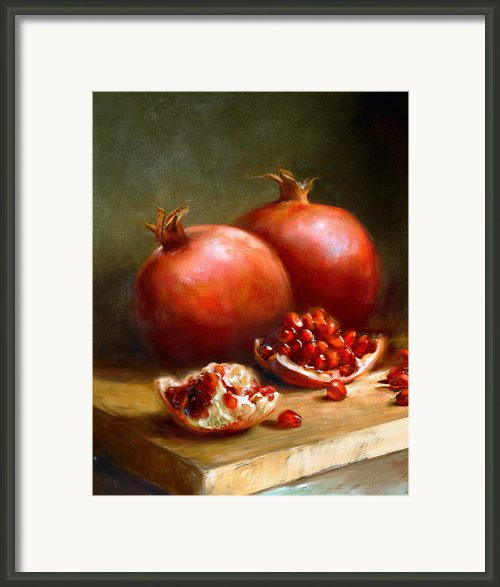 Pomegranates Framed Print By Robert Papp