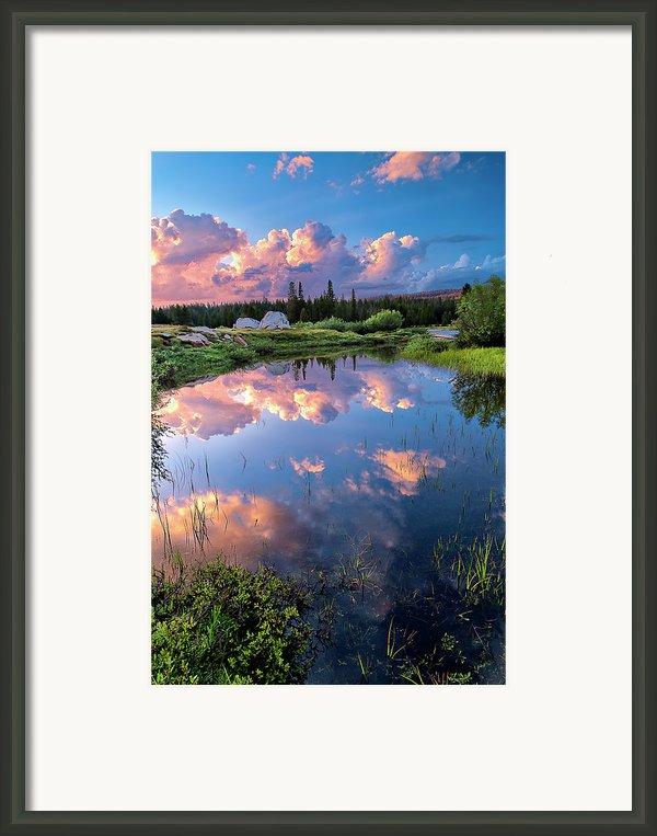 Pond Framed Print By Jean Day Landscape Photography