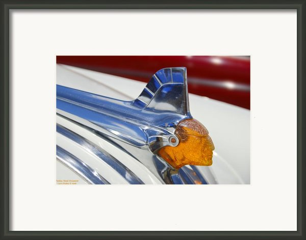 Pontiac Hood Ornament Framed Print By Larry Keahey