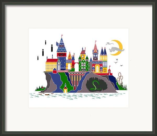 Pop Art Hogwarts Framed Print By Christopher Ables