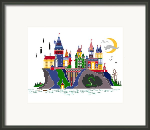 Pop Art Hogwarts Framed Print By Christopher Ables