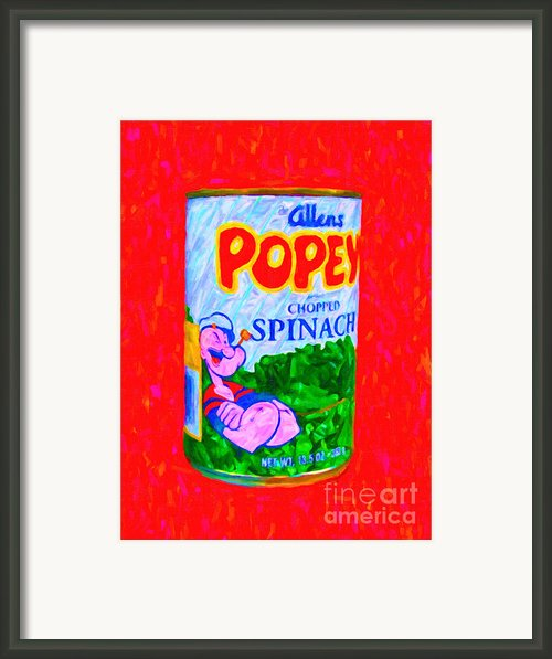 Popeye Spinach Framed Print By Wingsdomain Art And Photography