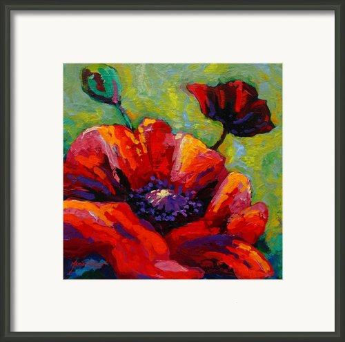 Poppy I Framed Print By Marion Rose