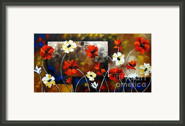 Poppy Spectrum Framed Print By Uma Devi