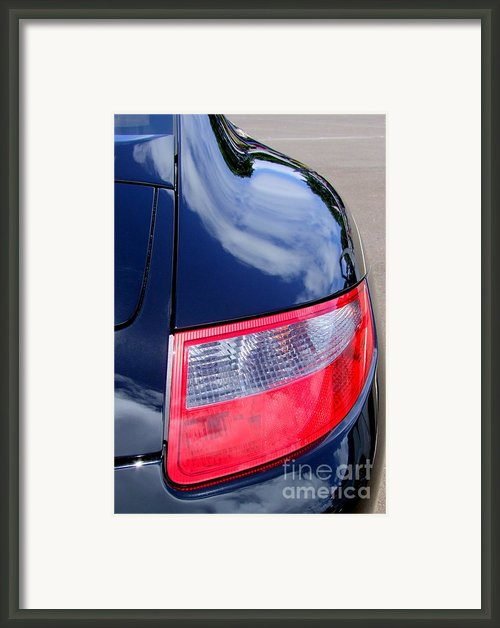 Porsche 911 Carrera S Tail Light Framed Print By Mary Deal