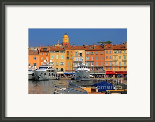Port Of Saint-tropez In France Framed Print By Giancarlo Liguori